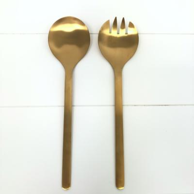 Gold Salad Servers _ Wanaka Weddings and Events _ Major and Minor Hire