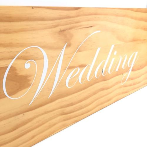 Hanging Wedding Sign _ Close up _ Wanaka Weddings and Events _ Major and Minor Hire