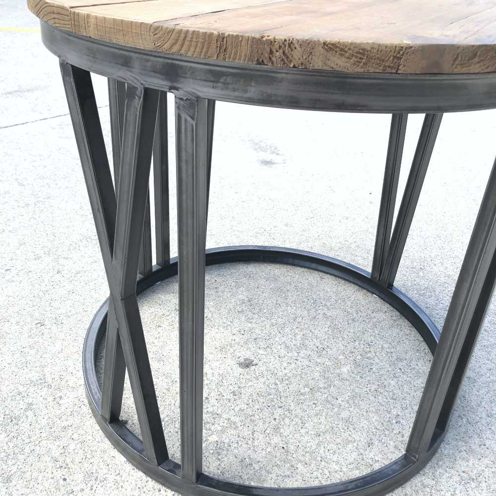 Rustic Side Table   Close Up Legs   Wanaka Weddings and Events   Major and Minor Hire