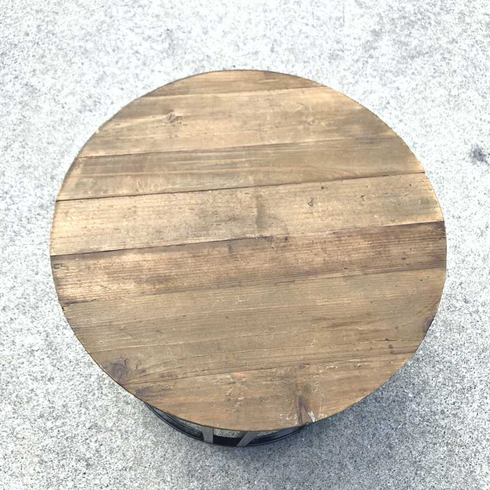 Rustic Side Table   Close Up   Wanaka Weddings and Events   Major and Minor Hire