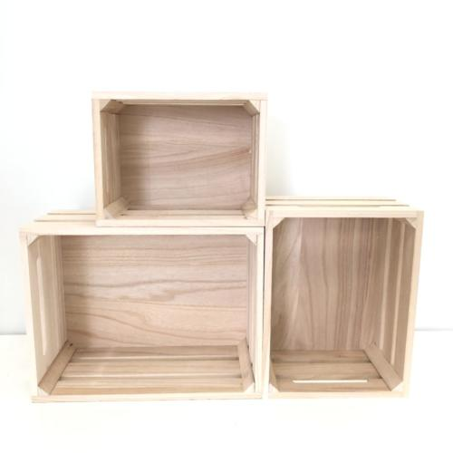 Wooden Crates | Blonde Wood | Sizes | Wanaka Weddings and Events | Major and Minor Hire