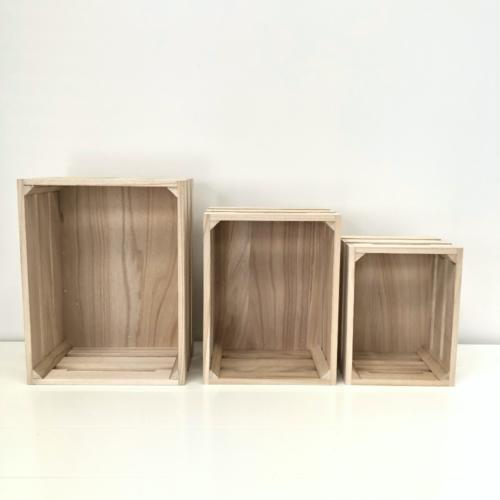 Wooden Crates | Blonde Wood | Heights | Wanaka Weddings and Events | Major and Minor Hire