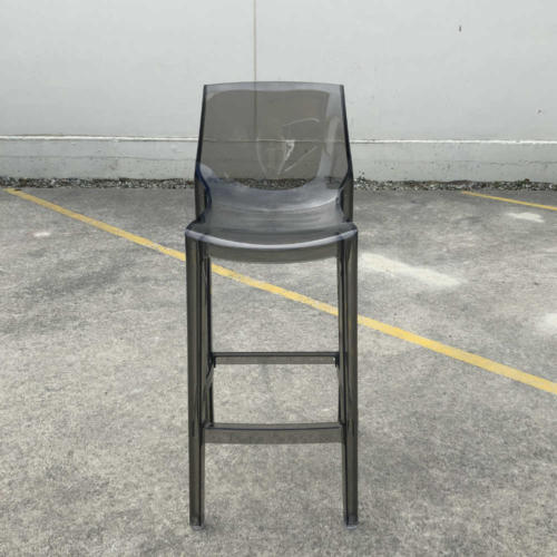 Acrylic Barstool - Smokey - Major and Minor - Wedding and Event Hire - Wanaka Hire Queenstown Hire