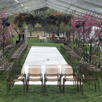 Acrylic Chairs - Setup - Major and Minor - Wedding and Event Hire - Wanaka Hire - Queenstown Hire