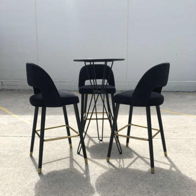 Hairpin Bar Leaner w chairs - Wanaka Wedding Hire - Wanaka Wedding and Events - Queenstown