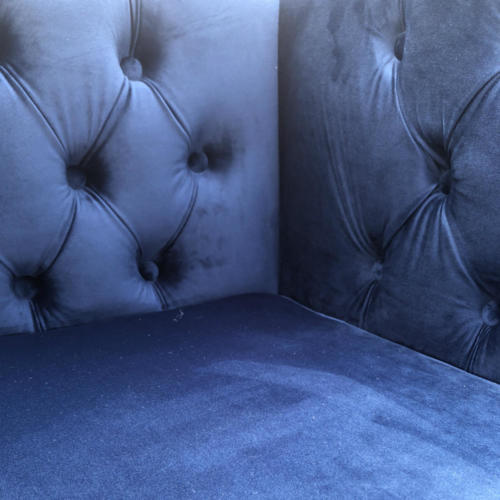 Manhattan Velvet Sofa close up - Wanaka Wedding Hire - Wanaka Wedding and Events - Queenstown Furniture