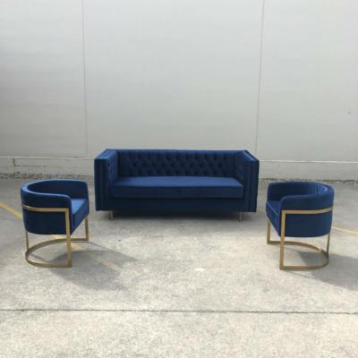 Manhattan Velvet Sofa with chairs - Wanaka Wedding Hire - Wanaka Wedding and Events - Queenstown