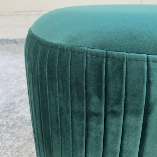 Ritz Ottoman Emerald Close up - Wanaka Wedding Hire - Queenstown Wedding Hire - Event Furniture