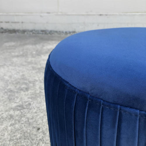 Ritz Ottoman Blue Closeup - Wanaka Wedding Hire - Wanaka Wedding and Events - Queenstown Furniture