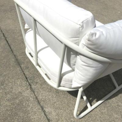 White Outdoor Armchair - Back - Wanaka Wedding Hire - Queenstown Wedding Hire - Event Furniture