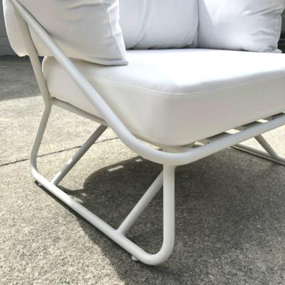White Outdoor Armchair - Close up - Wanaka Wedding Hire - Queenstown Wedding Hire - Event Furniture