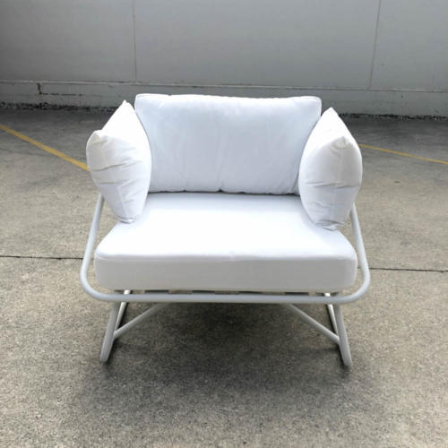 White Outdoor Armchair - Wanaka Wedding Hire - Queenstown Wedding Hire - Event Hire and Furniture