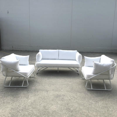 White Outdoor Couch - Including Chairs