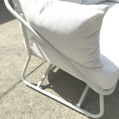 White Outdoor Couch - Side - Wanaka Wedding Hire - Queenstown Wedding Hire - Event Furniture