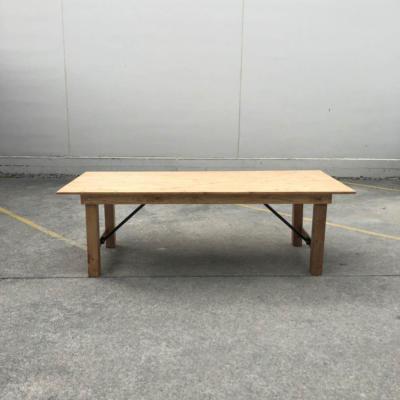 Wooden Dining Table - Wanaka Wedding Hire - Weddings Events Furniture