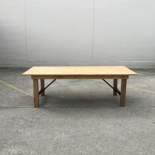 Wooden Dining Table - Wanaka Wedding Hire - Weddings Events Furniture