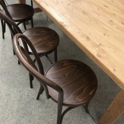 Wooden Dining Table with chairs close up - Wanaka Wedding Hire - Wanaka Wedding and Events