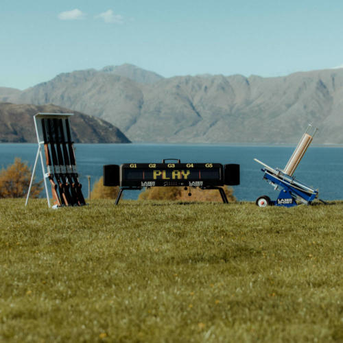 Wanaka Laser Clays - lawn game - wanaka wedding - event entertainment - queenstown event hire