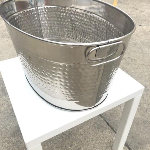 Silver Drinks Tub | Side | Wedding and Event Hire | Wanaka and Queenstown Hire
