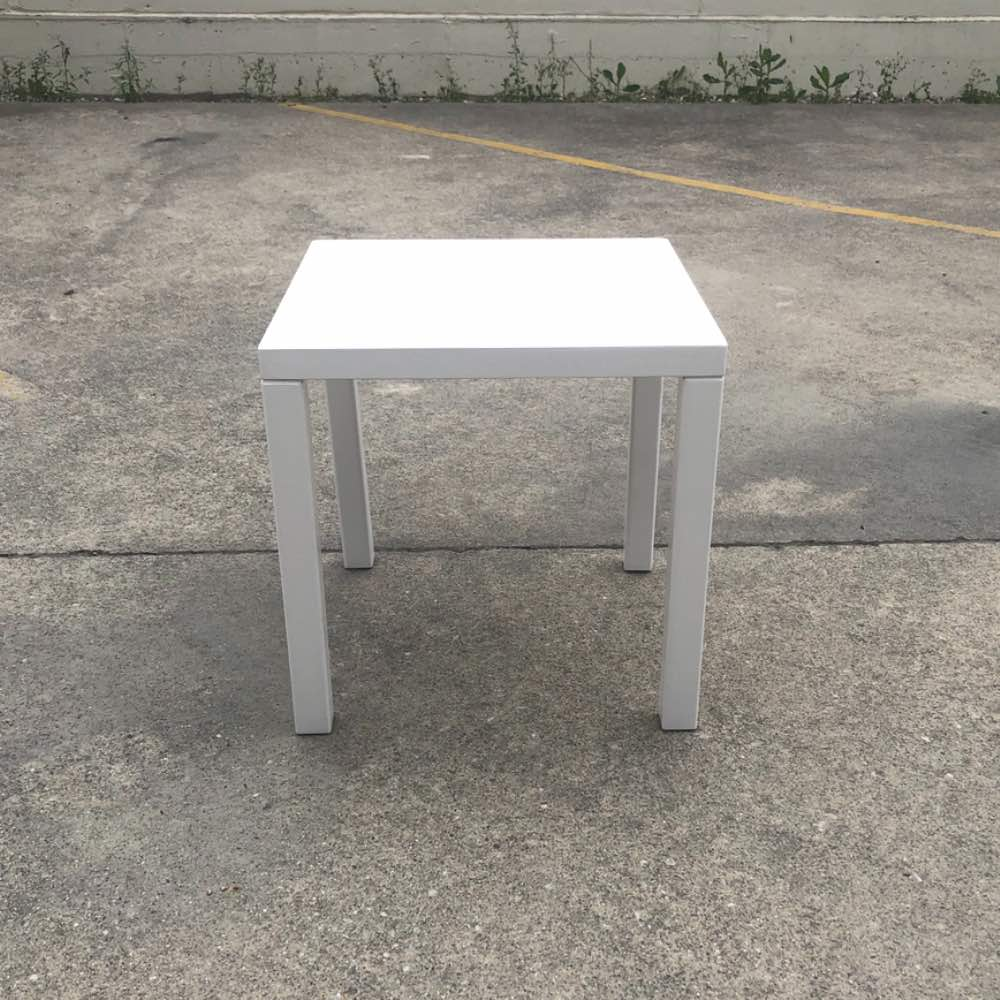 White Side Table | Wedding and Event Hire | Wanaka and Queenstown Hire