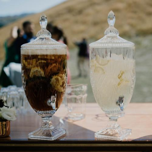 Drinks Dispenser _ Cut Glass _ Wanaka Wedding Hire _ Major and Minor