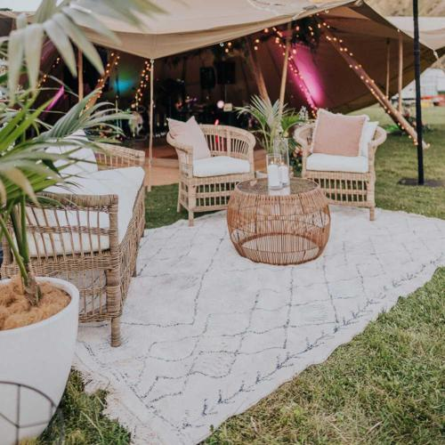 Elle Rug _ Lounge Furnishing _ Wedding Hire Wanaka _ Major and Minor Hire