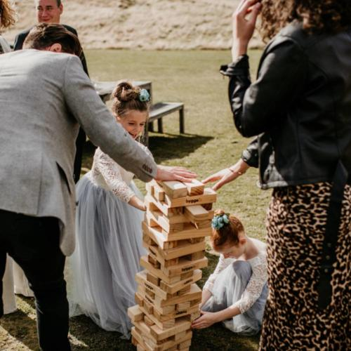 Giant Jenga _ Wanaka Wedding Hire