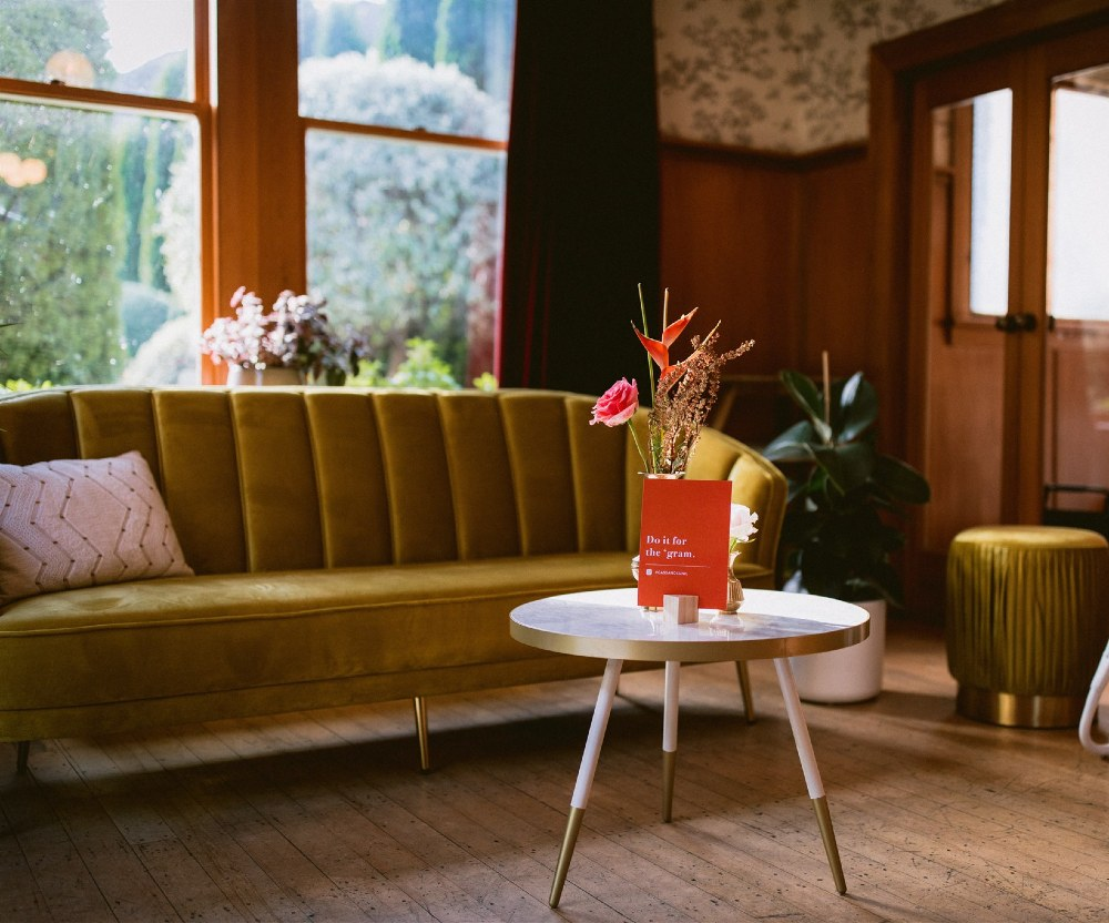 Hudson Velvet Couch _ Example _ Styled _ Wanaka Wedding Hire _ Major and Minor Hire