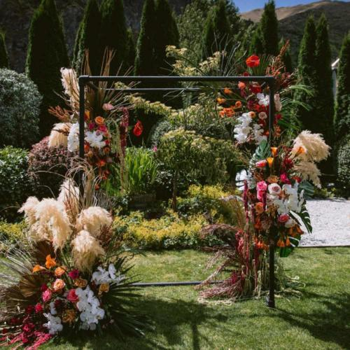 Industrial Wedding Arch _ Styled _Queenstown Wedding Hire _ Wanaka Wedding Hire _ Major and Minor Hire