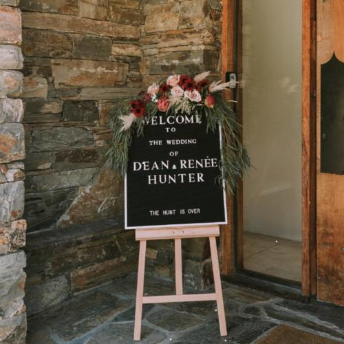 Letterboard _ Easel _ Wanaka Wedding Hire _ Queenstown Wedding Hire _ Major and Minor