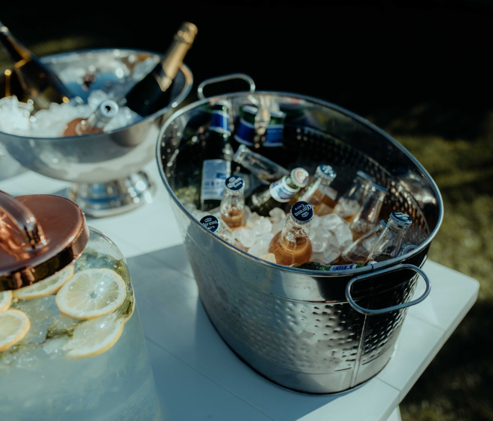 Silver Drinks Tub _ Serveware_Queenstown Event Hire_ Wanaka Wedding Hire _Major and Minor
