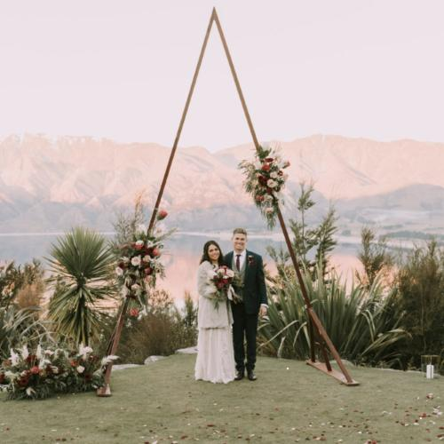 Triangle Arch _ Wedding Arch _ Wanaka Wedding Hire _ Queenstown Wedding Hire _ Major and Minor