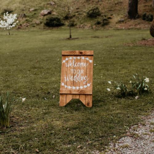 Wedding Sign _ Welcome Sign _ Wanaka Wedding Hire _ Major and Minor Hire