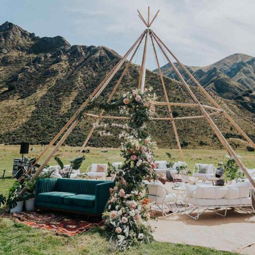 White Outdoor Furniture _ Styled _ Wanaka Wedding Hire _ Queenstown Wedding Hire _ Major and Minor