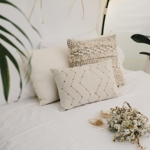White and Gold Beaded Cushion _ Styled _ Wanaka Wedding Hire _ Queenstown Wedding Hire _ Major and Minor
