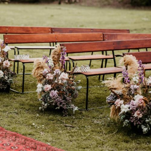 Wooden Bench seat _ Wedding Seating _ Wanaka Wedding Hire _ Queenstown Event Hire