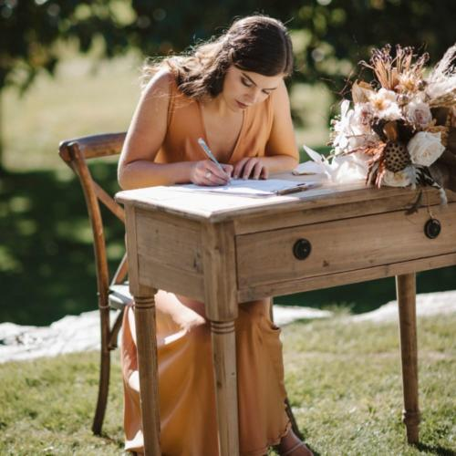 Wooden signing table _ Tables _ Styled _ Wanaka Wedding Hire _ Queenstown Wedding Hire _ Major and Minor