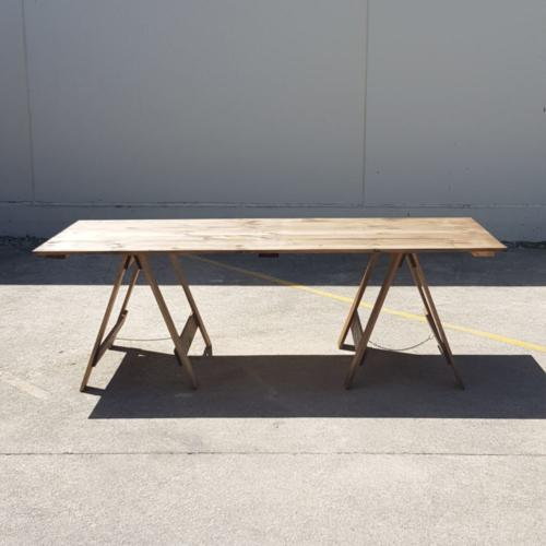 Wooden Trestle Table _ Major and Minor _ Wedding and Event Furniture _ Queenstown & Wanaka